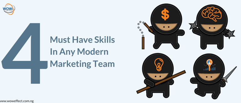 must have skills in any modern marketing team