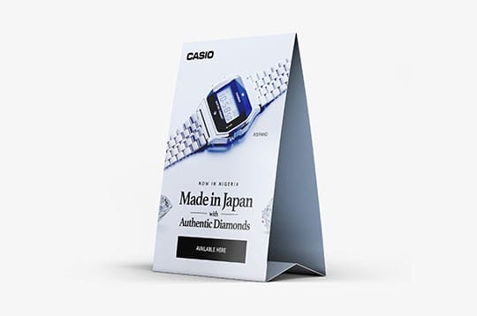 Casio design - table top